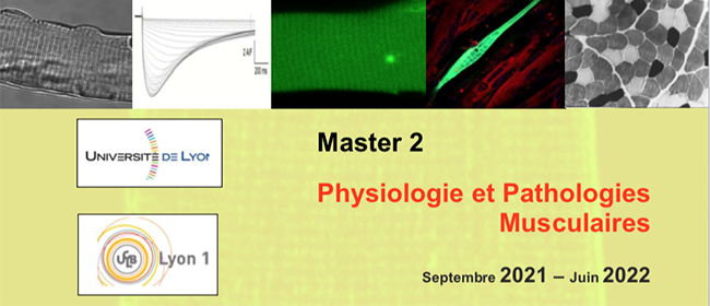 Master 2 Physiologie et Pathologies Musculaires 2021-2022